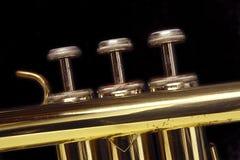 Trompete-Tasten Lizenzfreie Stockfotografie