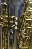 Trompete u. Saxophon Lizenzfreies Stockbild