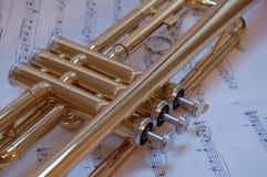 Trompete-Ventile Lizenzfreie Stockfotografie