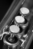 Trompeten-Ventile Lizenzfreie Stockfotografie