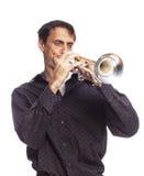 Trompetespieler Stockfotografie