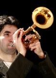 Trompetespieler lizenzfreie stockbilder