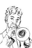 Trompetespieler Stockfotos