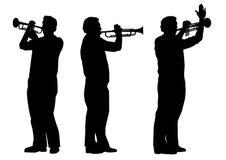 Trompetista Fotografia de Stock Royalty Free