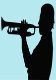 Trompetista stock de ilustración