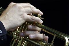 Trompetista Imagens de Stock