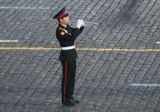Trompetista Imagen de archivo libre de regalías