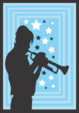 Trompetista ilustración del vector