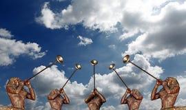 Trompetista celestial Imagem de Stock