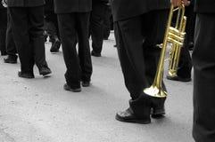 Trompetista da banda Imagens de Stock Royalty Free