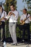 Trompetista del jazz Fotos de archivo libres de regalías