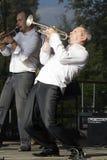Trompetista del jazz Foto de archivo