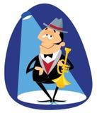 Trompetista do jazz Imagem de Stock