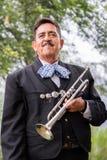 Trompetista orgulloso del Mariachi Foto de archivo