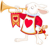 Trompetista real del conejito Foto de archivo libre de regalías