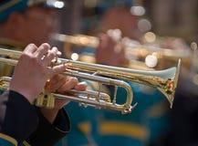 Trompetistas Imágenes de archivo libres de regalías