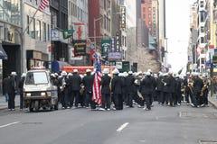 Trompetistas da parada do dia de Patricks de Saint Fotografia de Stock