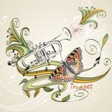 trompette illustration de vecteur