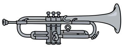 Trompette argentée classique illustration stock