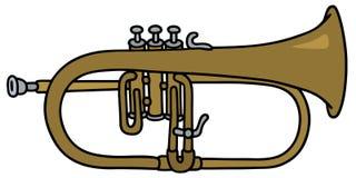 Trompette classique illustration stock