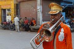Trompette dans les rues de Jodhpur Photos libres de droits