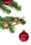 Trompette de Noël image libre de droits