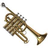 Trompette de petite flûte en laiton Images stock