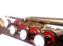 Trompette de petite flûte en laiton Photographie stock libre de droits
