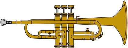 Trompette en laiton illustration de vecteur