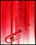 Trompette et étoiles Photo stock