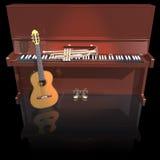 Trompette et guitare de piano Photo libre de droits