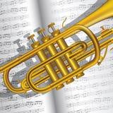 Trompette et notes illustration stock