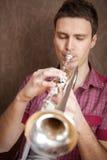 Trompetter royalty-vrije stock fotografie