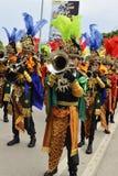 Trompetter met een uniek kostuum Royalty-vrije Stock Foto's
