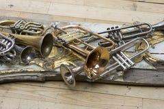 Trompettes Images libres de droits
