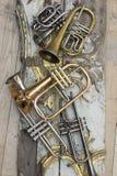 Trompettes Photographie stock libre de droits