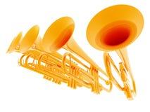 Trompettes Image stock