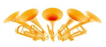 Trompettes Photographie stock