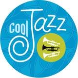 Trompettes fraîches de jazz Image stock