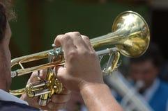 Trompettiste Photographie stock libre de droits