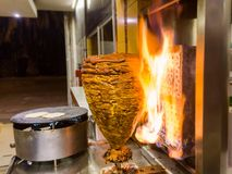 Mexican Tacos - Trompo de Pastor. Trompo de Pastor, mexican tacos al pastor one of the best and famous tacos in Mexico stock photos