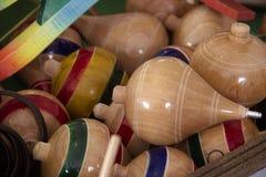 Trompos traditioneel Mexicaans speelgoed 2 stock afbeelding