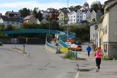 Tromsø, άνθρωποι Στοκ φωτογραφίες με δικαίωμα ελεύθερης χρήσης