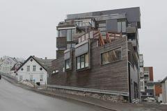 Tromsø, casas Fotografía de archivo