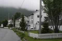 Tromsø no tempo chuvoso Imagem de Stock