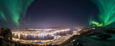 Tromsøpanorama Stock Afbeelding