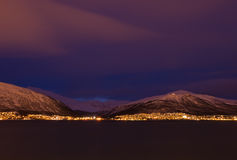 Tromsø afternoon. Tromsø early afternoon in january where the sun never rises above the horizon stock image