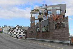 Tromsø, casas Imágenes de archivo libres de regalías