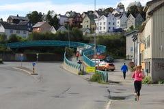 Tromsø, ludzie Zdjęcia Royalty Free