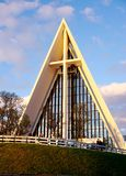 The Tromsdalen Church in Tromso, Norway, nicknamed the Arctic Cathedral Stock Images